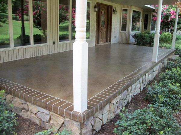 Террасы из бетона сухая смесь керамзитобетон