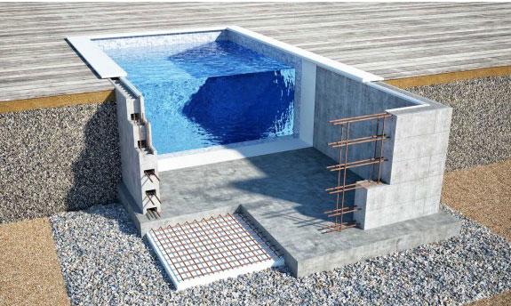 Бассейн из бетона заказать как месить раствор цементный