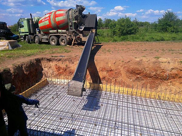 залив бетона цена